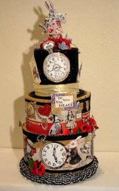 """An incredibly enchanting centerpiece for adult or child party alike. """"Alice in Wonderland"""" is also being made into a Wedding Card Reception Box so keep your eye out for it! As for this centerpiece, I'"""
