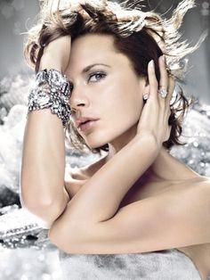 Victoria Beckham shining in diamonds