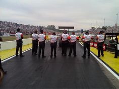 The awesome @Parts Plus crew behind Clay Millican.  Gainesville - March 2013.