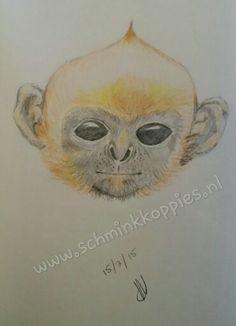 Monkey drawed by Schminkkoppies