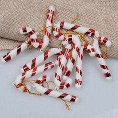 LQZ 12stk Zuckerstange Baumschmuck Weihnachtsbaum Anhänger Christbaumschmuck - Gold: Amazon.de: Küche & Haushalt