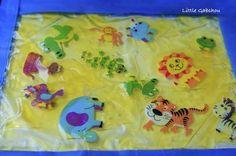 sac sensoriel jungle gelée, colorants, sensory bag filled with homemade jelly