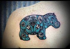 Egyptian Hippo Tattoo by David Hale of Love Hawk Studios, Athens, GA