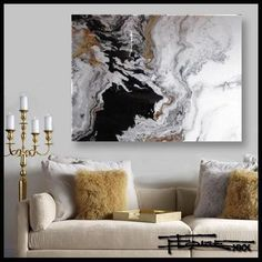 Resin coated Limited Edition giclee on canvas - TRIBUTARY - 48 X 36 X 1.5 by ELOISExxx Acrylic Pouring Art, Acrylic Art, Living Room Art, Abstract Wall Art, Resin Art, Art Projects, Canvas Art, Painting Canvas, Paintings