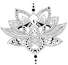 Resultado de imagen para tatuajes mandalas flor loto