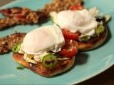 Cooking Channel serves up this Poached Eggs with Crab Salad and English Muffins recipe from Michael Symon plus many other recipes at CookingChannelTV.com