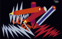 Fortunato Depero (1892-1960, Italy), 1926, Lightning-pencils, Collage, Private Collection.  ©Eredi Depero #Futurism