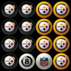 Pittsburgh Steelers Billiard Ball Set
