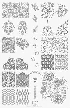 UberChic Nail Stamp Plates - Collection 7 - Includes 3 Unique Nail Stamp Plates