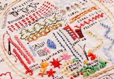 Embroidery Sampler on Creativebug - Instructional video on basic embroidery stitches.  @creativebug #creativebug #imadethis