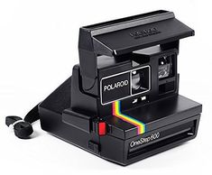 Polaroid Rainbow OneStep 600 Instant Film Camera with Strap Flash Photography, Underwater Photography, Polaroid Onestep 600, Descendants Costumes, Instant Film Camera, Printer Scanner, Racing Stripes, Digital Camera, Rainbow