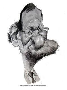 "CARICATURAS DE FAMOSOS: ""Mariano Rajoy"" por Ernesto Priego"
