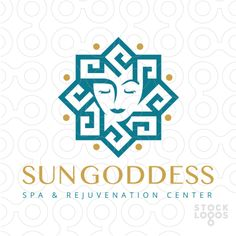 Logo that incorporates the flavour and style of a greek inspired pattern to create a sun. The sun design is also designed to create a women's face