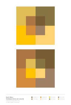 Albers Color intervals. The bottom right squares don't quite fit in here, see if you can fix it!