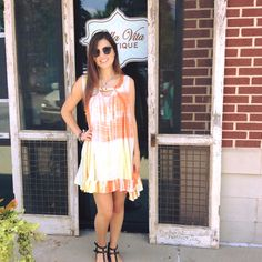 Tie dye to die for! This sleeveless key-hole detailed  dress is perfect for everyday! #tiedye #summerlove