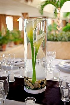 Flower centerpieces on a budget la is getting married really beauty centerpiece fake calla lillies of course junglespirit Choice Image