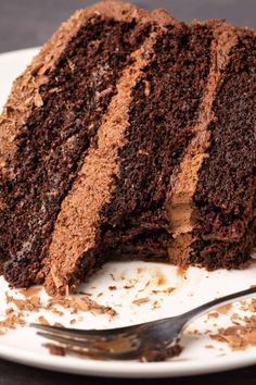 Dairy Free Chocolate Cake, Chocolate Cake From Scratch, Best Vegan Chocolate, Amazing Chocolate Cake Recipe, Cake Recipes From Scratch, Best Chocolate Cake, Chocolate Recipes, Chocolate Heaven, Vegan Buttercream
