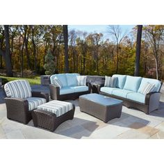 Anacara Carlysle All-Weather Wicker Conversation Set - Seats 6 by Anacara Co. $5699.99. Designed to maximize both the style and seating of your indoor or outdoor area, the Anacara Carlysle All-Weather Wicker Conversation Set - Seats 6 is as comfortable as it is stylish. Crafted from strong and durable resin wicker, this lounge chair is weather-proof and will not fade, mold, or crack. Such durable design means this set can stay outdoors year-round. Gather your friends and ...
