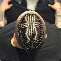Cornrow Styles For Men, Cornrow Hairstyles For Men, Latest Braided Hairstyles, Cool Braid Hairstyles, Hair Styles, Braids With Fade, Braids With Shaved Sides, Braids For Boys, 2 Braids Men