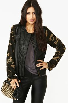 Enlisted Moto Jacket: fabulous for the younger Ladies who love the biker look....up to date ,yet biker chic!