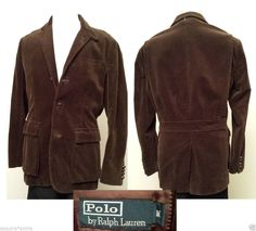 7e7eed63f POLO Ralph Lauren Men Size M men corduroy brown jacket sport coat (size 41 L