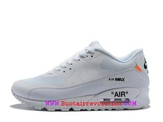 best website 16add c8aba Off White X Nike Air Max 90 Chaussures Ultra Essential Homme Prix Pas Cher  Homme Blanc