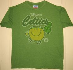 JUNK-FOOD-Shirt-L-Mr-Celtics-Mr-Happpy-Boston-Basketball-Retro-Logo-HTF-RARE-OOP