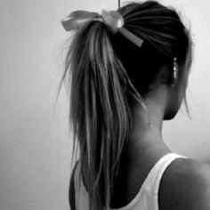 A cute way to dress up a ponytail.