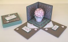 Explosionsbox zum Geburtstag mit Herz und Blumen, Materialien von Stampin' Up!