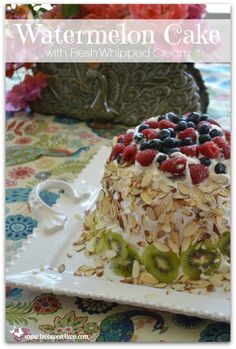 Watermelon Cake with