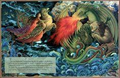 diagnosednostalgia:  Laurel Long  The Lady and the Lion illustration