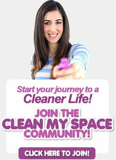 Join Clean My Space! Best site for how to clean just about anything in your home...pillows anyone?!