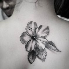Pin for Later: 25 Totally Tropical Tattoos That'll Make It Summer All Year Round Hibiscus in Grey