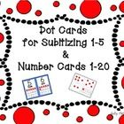 This product includes 24 cards for subitizing numbers 1-5 (