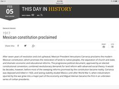 This day in history February 5, Constitution, Revolution, Restoration, History, Day, Historia, Bill Of Rights