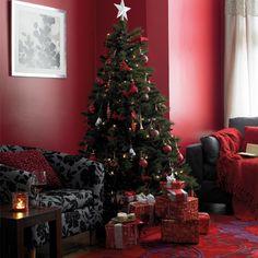 Red Christmas Living Room | Christmas Ideas | Home for Christmas | Homebase