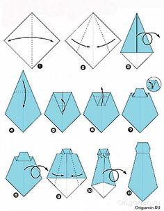 схема оригами одежды