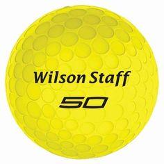 Wilson Staff Fifty Elite Golf Balls - 1 DZ - Yellow