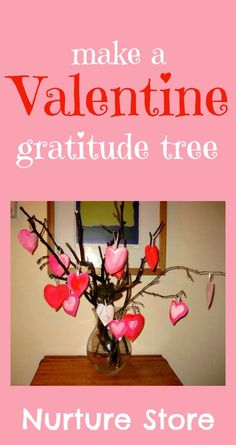 Valentine's gratitude tree - kid's Valentine idea