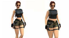 Lara Croft gets a normal body and she still kicks butt