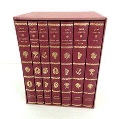 Jane Austen Folio Society 7 Vol Set Emma Pride & Prejudice Persuasion + 4 More Top offers Mansfield Park, Jane Austen, Short Words, Pride And Prejudice, More, Canada Eh, Ebay, Books, Vintage
