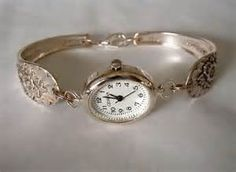Silver Spoon Watch Bracelet Recycled