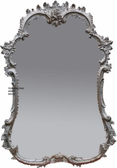 ~ Ornate Antique Silver Arched Wall Mirror Shabby Rose French Vintage Cottage Chic ~ ebay.com