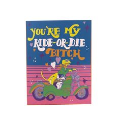 A friendship card for any occasion.. or no occasion at all. This funny card is one she'll definitely love. #friendshipcard #friendship #funnycards Funny Cards For Friends, My Ride Or Die, Funny Greeting Cards, Friendship Cards, Love Cards, A Funny, Joy, Mailbox, Check