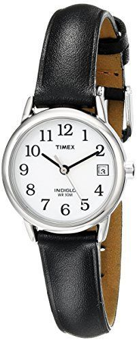 Timex Women's T2H331 Easy Reader Black Leather Strap Watch - http://dressfitme.com/timex-womens-t2h331-easy-reader-black-leather-strap-watch/