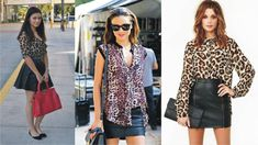 Image result for leopard print shirt street style Leopard Shirt, Printed Shirts, Leather Skirt, Street Style, Skirts, Image, Fashion, Shirt Print, Moda