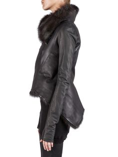 Rick Owens, Calf Leather, Blazer Jacket, Fur Coat, Winter Jackets, Chanel Fashion, Furs, My Style, Casual Chic