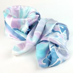 Hand-painted Silk Scarf - Winter Trees