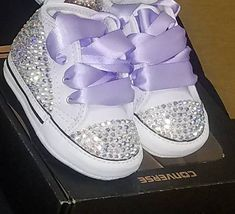 Zapatos Bling Converse del pesebre