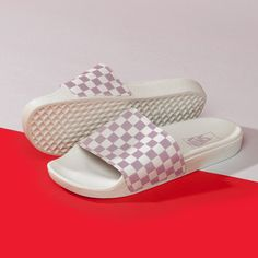 Check out the Vans slides in the sale.